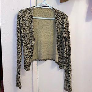 Brandy Melville cheetah cardigan